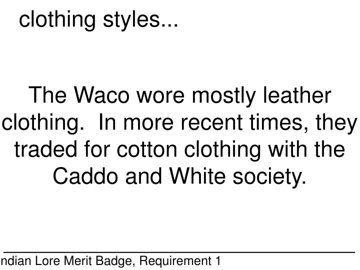 clothing styles...