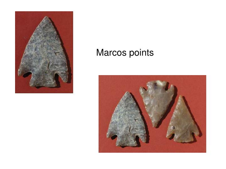 Marcos points