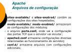 apache arquivos de configura o