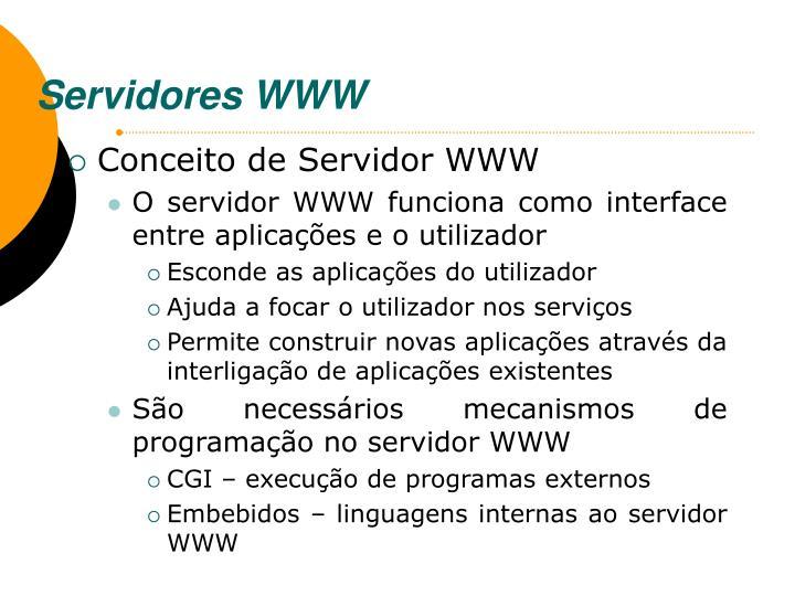 Servidores WWW