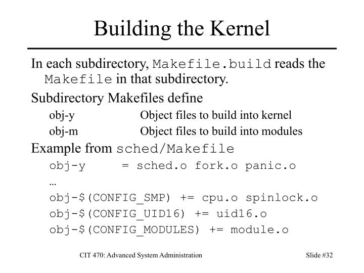 Building the Kernel