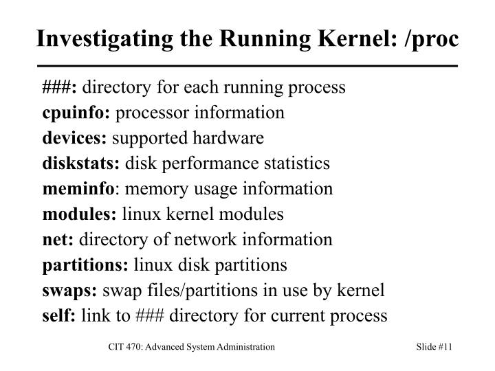 Investigating the Running Kernel: /proc