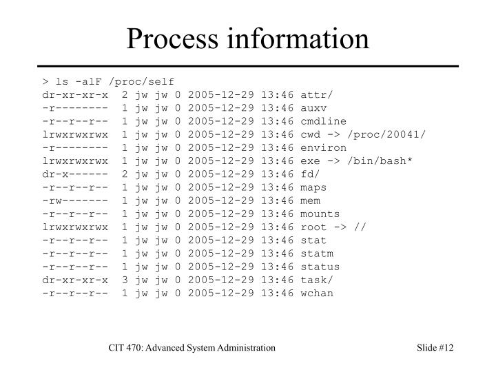 Process information