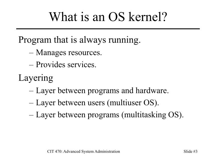What is an os kernel