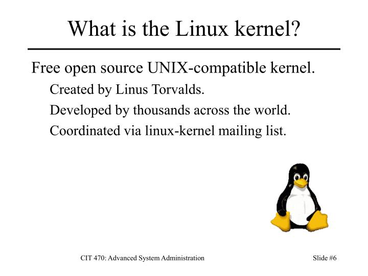 What is the Linux kernel?