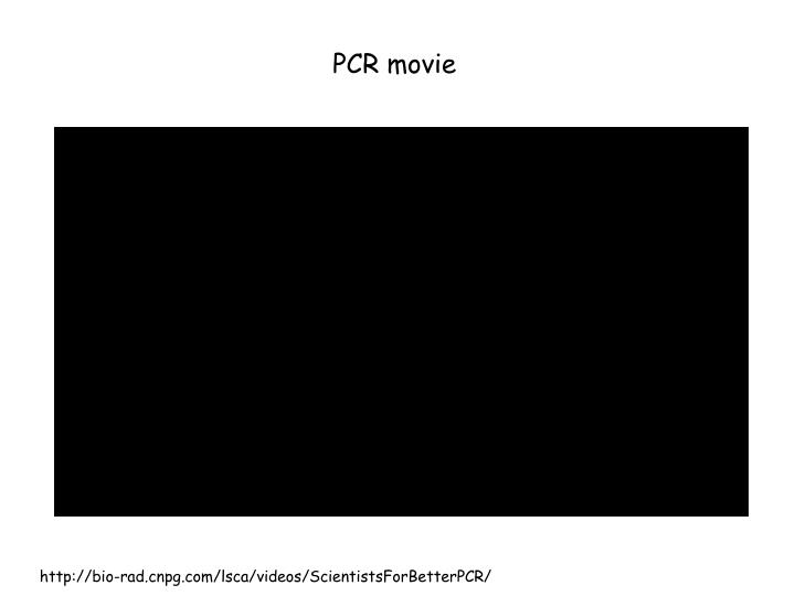 PCR movie