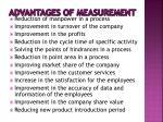 advantages of measurement