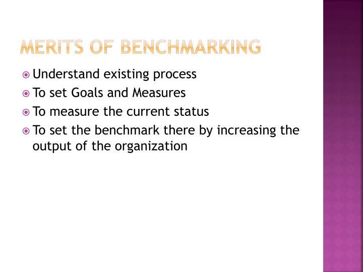 Merits of benchmarking