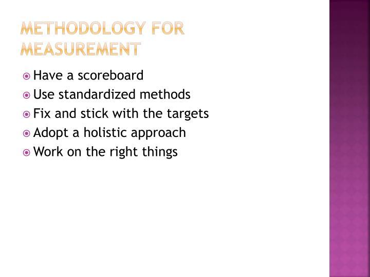Methodology for measurement