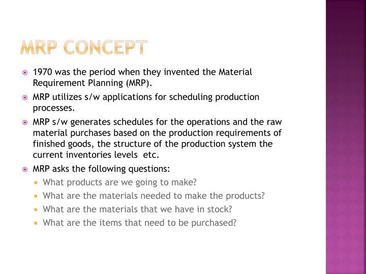 MRP concept