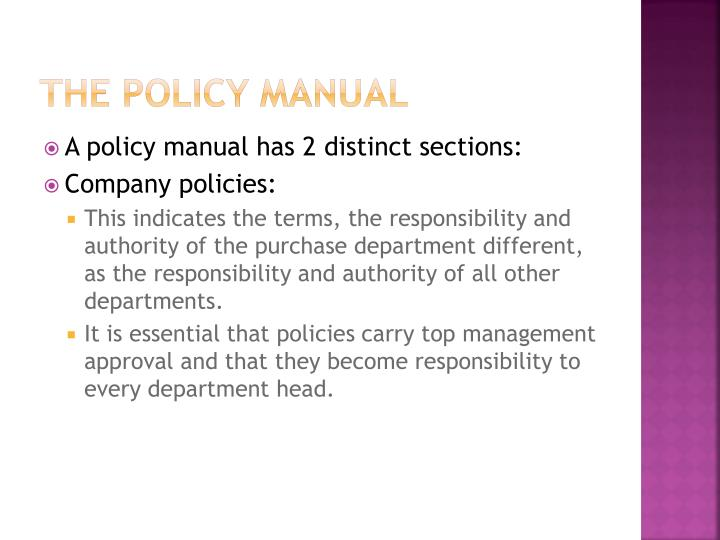 The policy manual