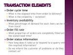 transaction elements