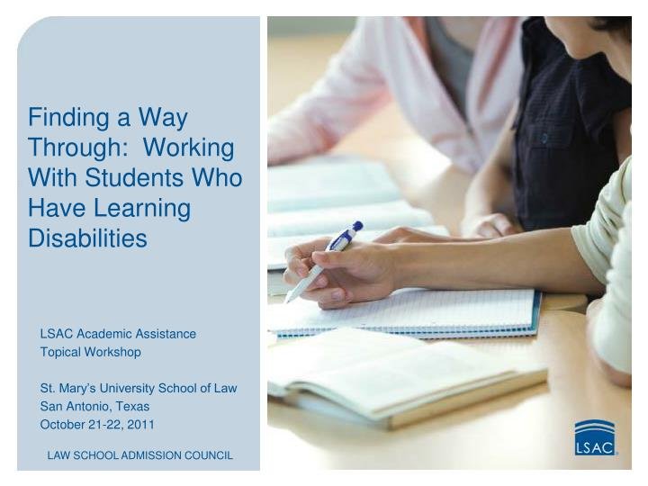 Finding a way through working with students who have learning disabilities