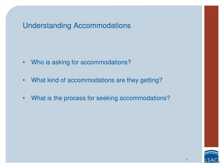Understanding Accommodations