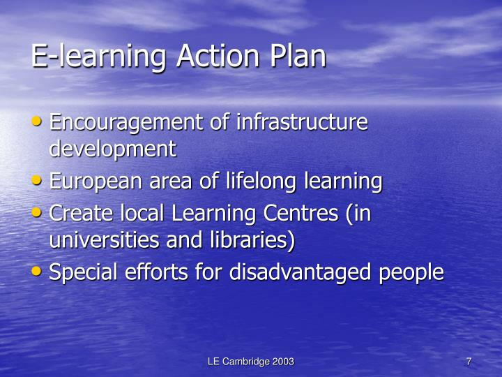 E-learning Action Plan