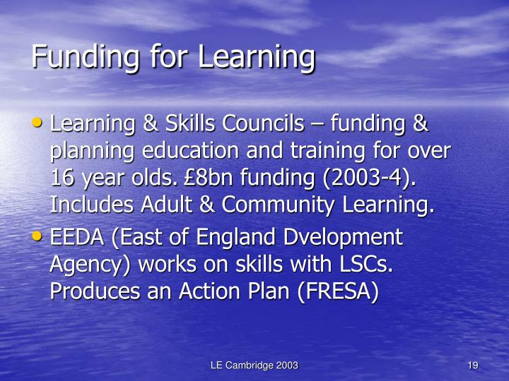 Funding for Learning