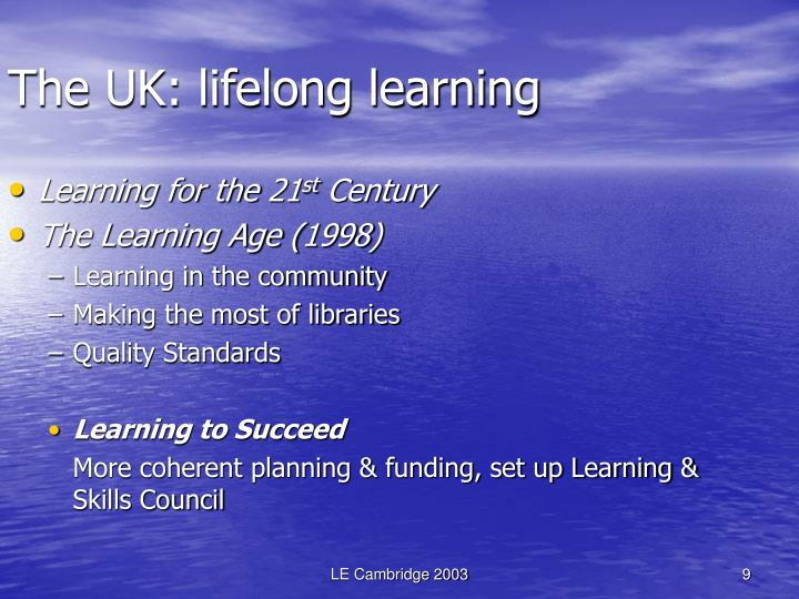 The UK: lifelong learning