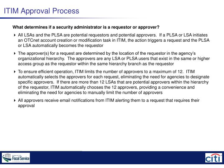 ITIM Approval Process