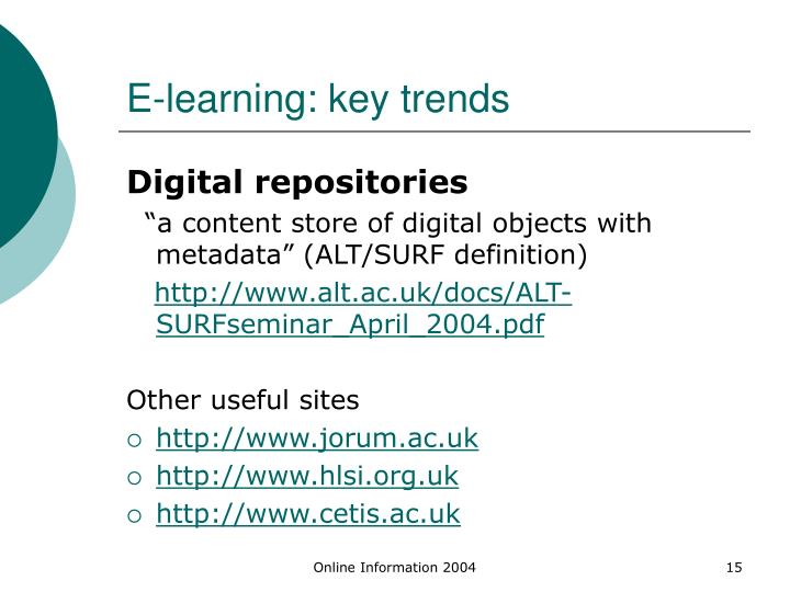 E-learning: key trends