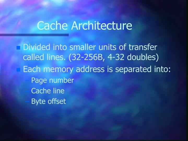 Cache Architecture