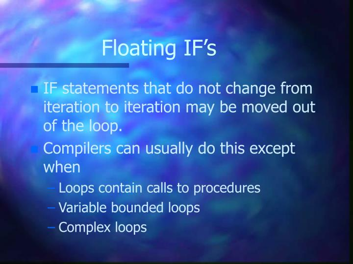 Floating IF's