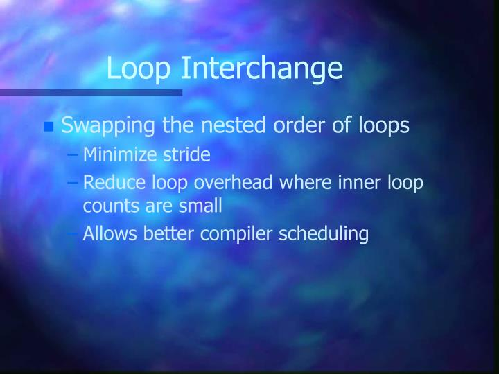 Loop Interchange