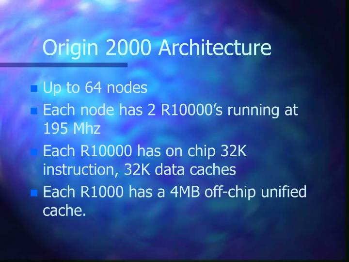 Origin 2000 Architecture