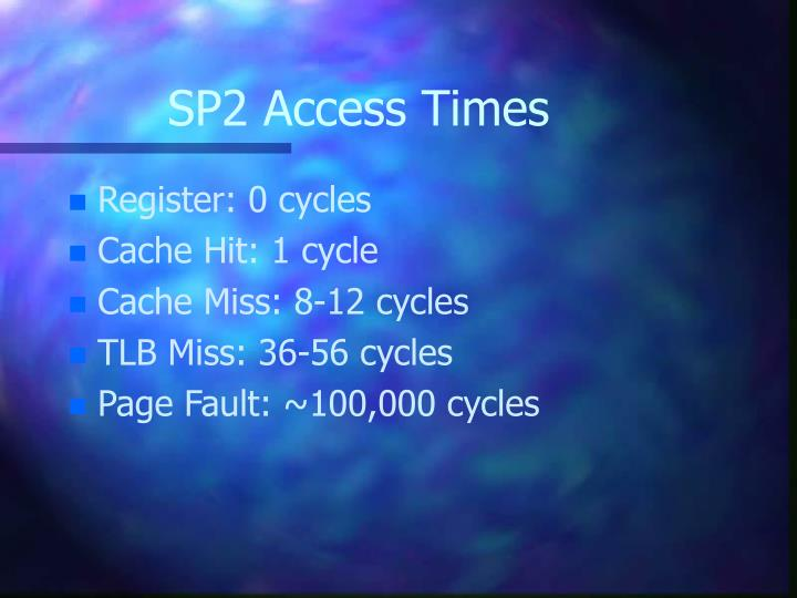 SP2 Access Times