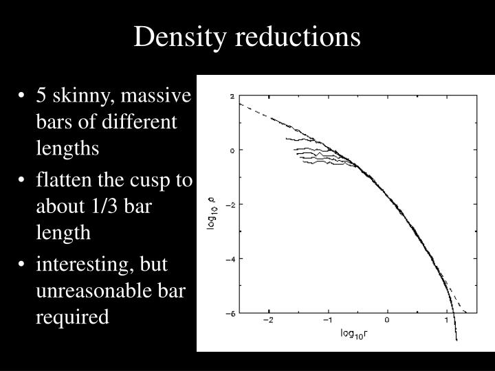 Density reductions