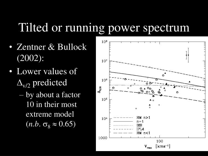 Tilted or running power spectrum