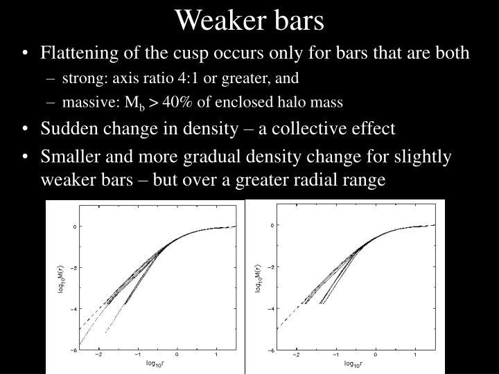 Weaker bars