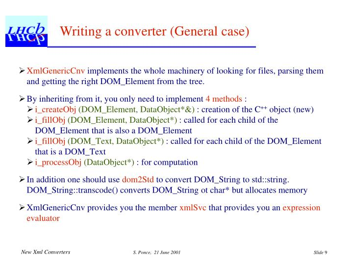 Writing a converter (General case)