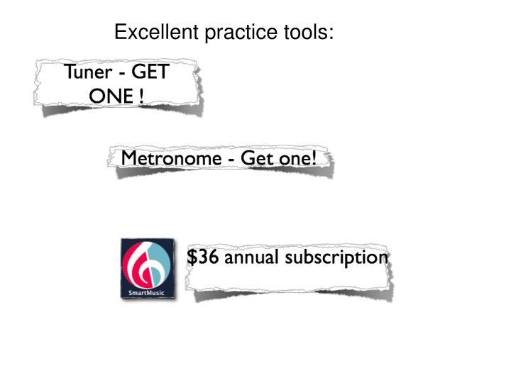 Excellent practice tools: