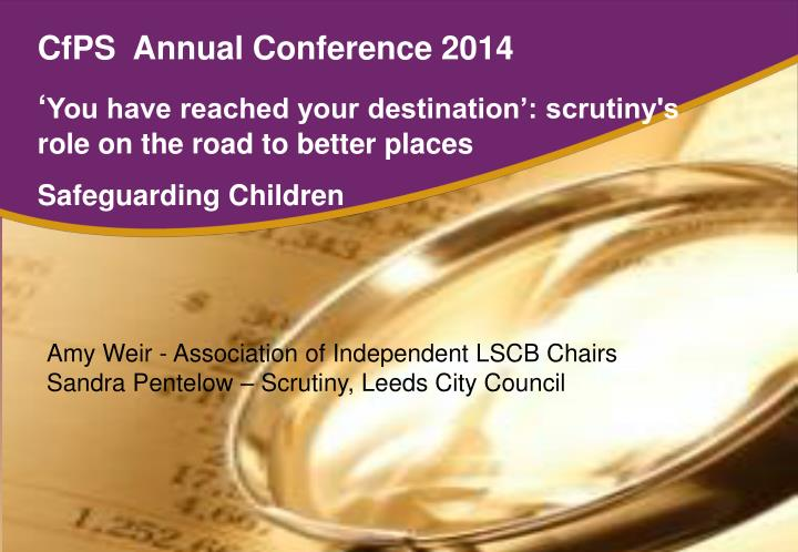 CfPS  Annual Conference 2014