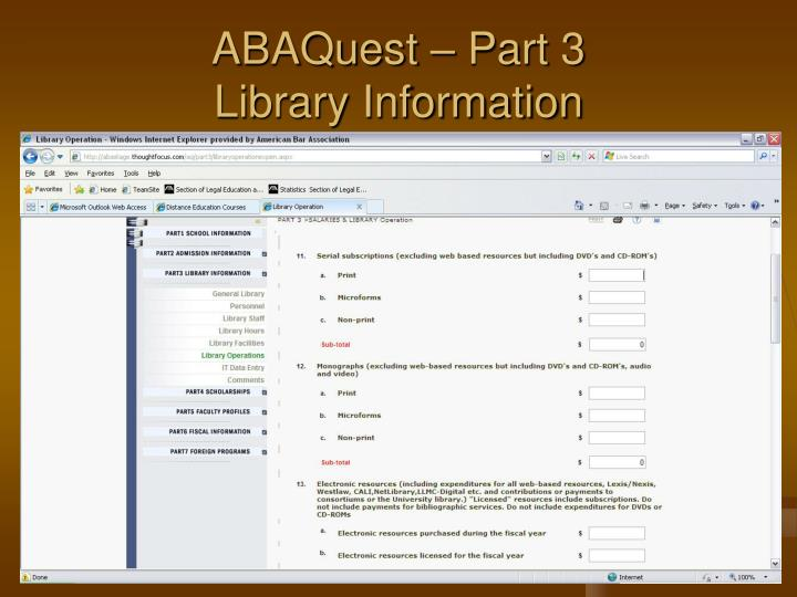 ABAQuest – Part 3
