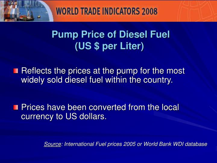 Pump Price of Diesel Fuel
