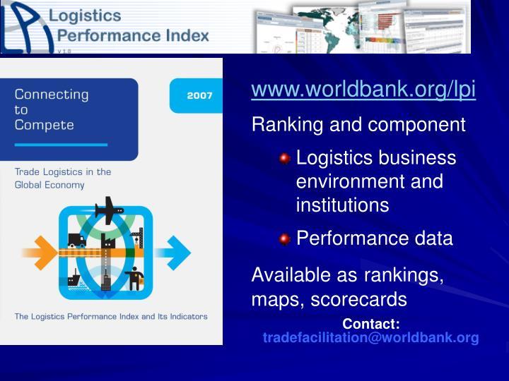 www.worldbank.org/lpi
