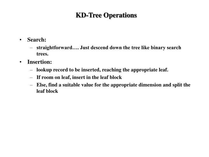 KD-Tree Operations