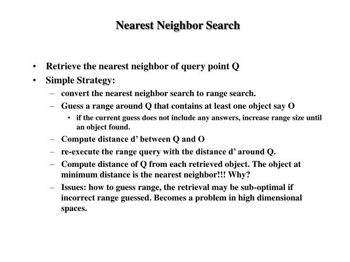 Nearest Neighbor Search