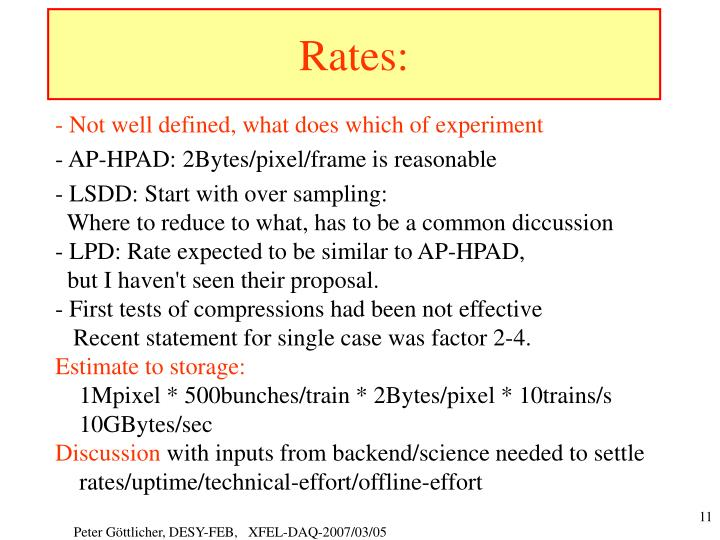Rates: