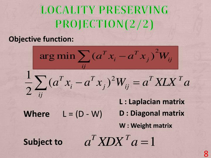 Locality Preserving projection(2/2)