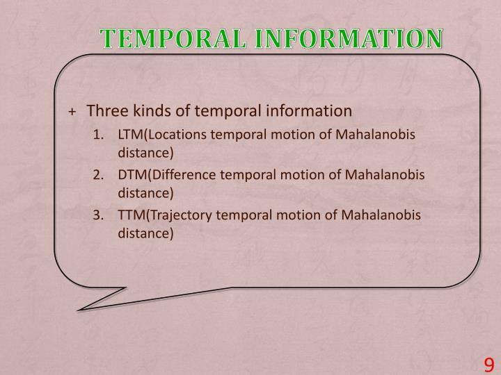 Temporal Information