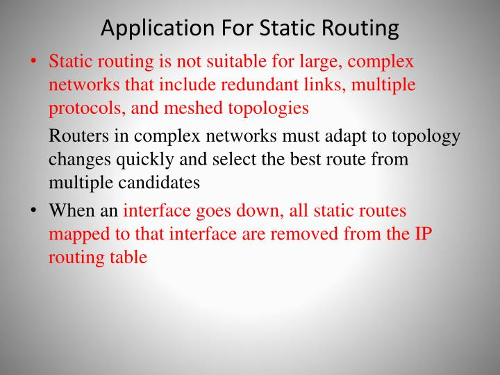 Application For Static Routing