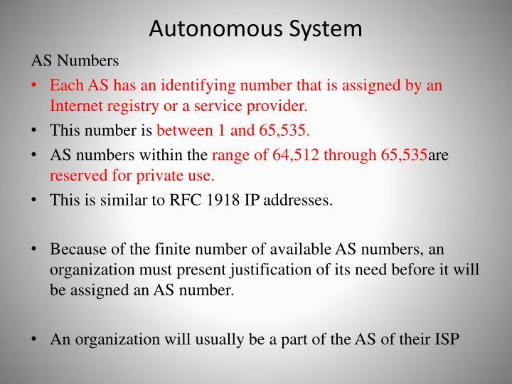 Autonomous System