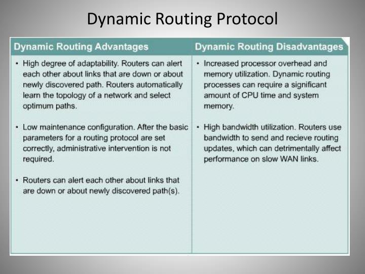 Dynamic Routing Protocol
