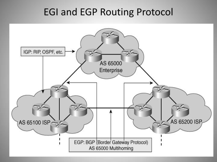 EGI and EGP Routing Protocol