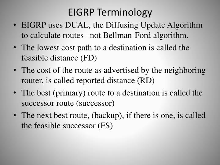 EIGRP Terminology