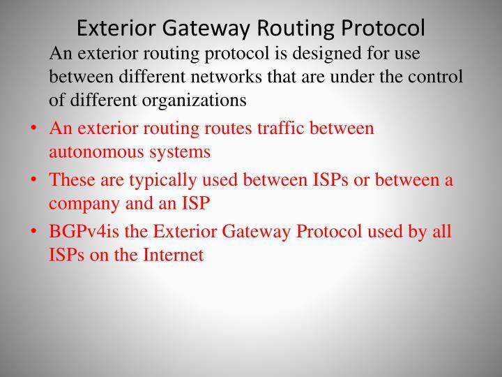 Exterior Gateway Routing Protocol