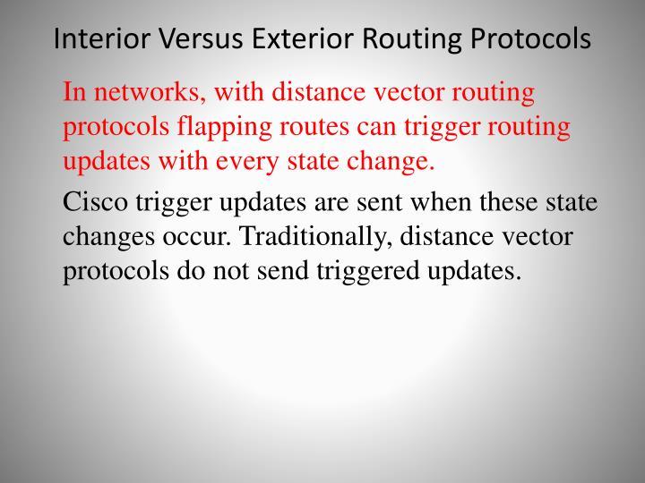 Interior Versus Exterior Routing Protocols