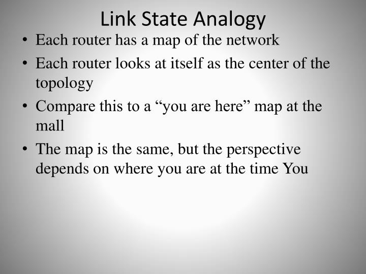 Link State Analogy